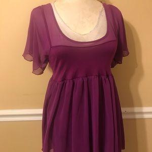 Free People mini purple Dress size medium